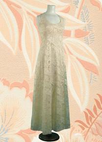 Empire waisted ecru wedding gown