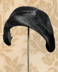 1930s Black sheared beaver hat