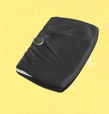 1960s black satin evening bag