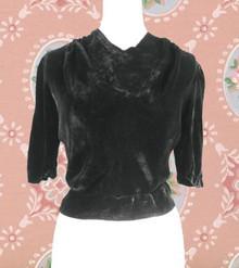 1940s Velvet evening blouse