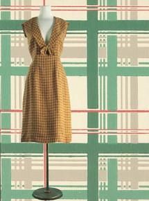 1940s Woven tweed sailor dress