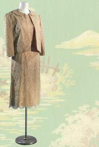 1950s Silk cocktail dress & jacket