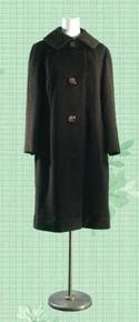 1960s Deep espresso wool coat