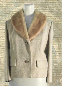 1960s Brocade & fur jacket