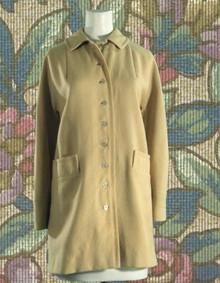 1960s Creamy wool car coat