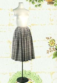 1950s Cotton Dirndl skirt