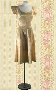 1950s Satin evening dress