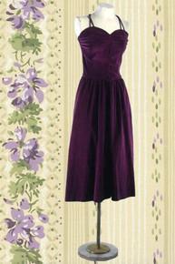 1940s Deep purple cocktail dress