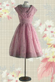1950s Pretty in pink party dress