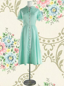 1950s Cotton percale day dress