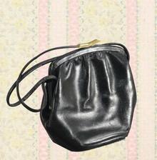 1930s black leather purse