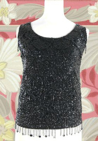 1950s Wool sequined glitzy top