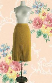 1950s pencil skirt with starburst print