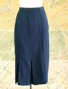 1940s navy rayon skirt