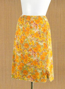 1960s Largo floral print half slip