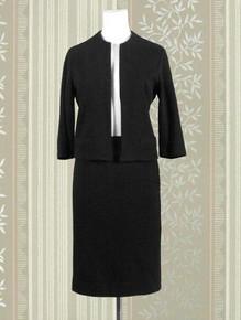 1960s Vicki Susan of California suit in black