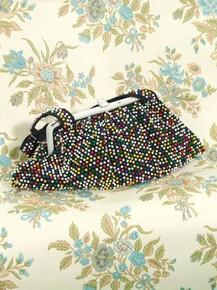 1940s multi-colored beaded purse