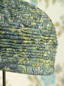 1960s metallic pleated turban