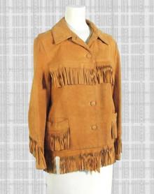 Deerskin suede fringed jacket