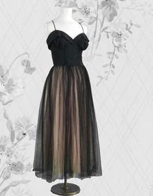 Twinkling net over net 1940s gown