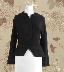 1940s black wool short jacket