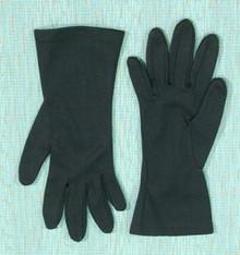 Basic black short gloves