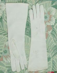 Double woven cotton gloves