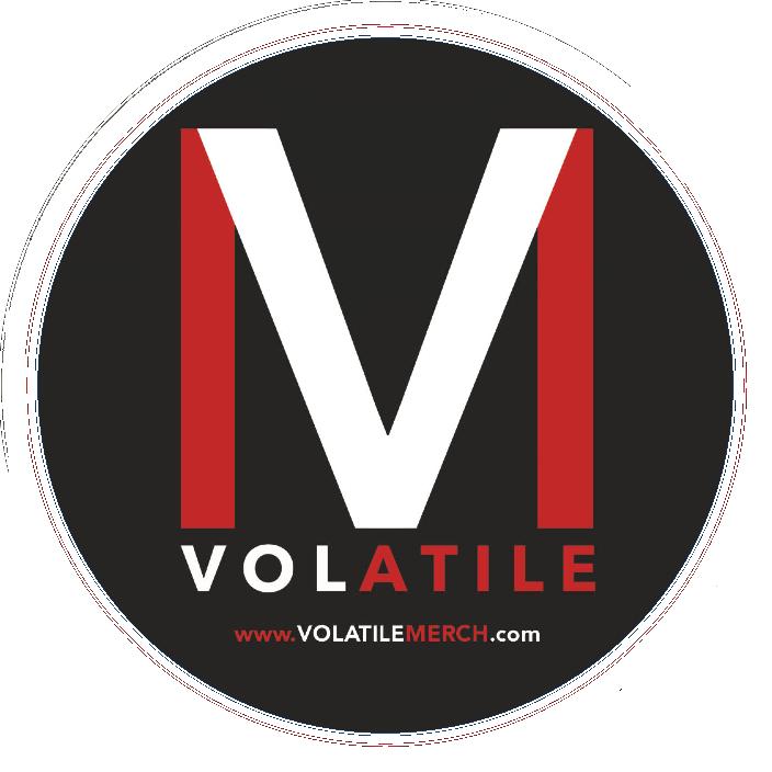 Volatile | Logo Sticker | Round |