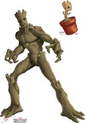 Guardians of the Galaxy - Animated Series - Groot and Little Groot - Cardboard Stand Up