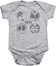 KISS - Paint Circles - Infant Snapsuit