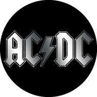 """AC/DC - Chrome Logo - 1"""" Button"""
