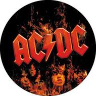 """AC/DC - Flames - 1"""" Button"""