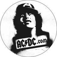 "AC/DC - Angus C/U - 1"" Button"