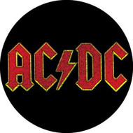"AC/DC - Red Logo - 1"" Button"