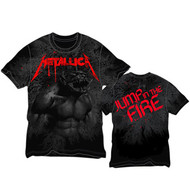 Metallica - Jump In The Fire All Over - Mens - Tshirt