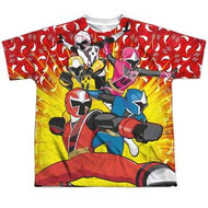 Power Rangers - Ninja Steel - Go Go - Youth Dye Sublimation T-shirt