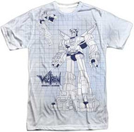 Voltron - Blueprint - Mens Sublimated Tee