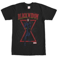 Black Widow - Black Web - Mens T-shirt