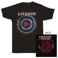 Alice In Chains - Played Here Tour - Mens T-shirt