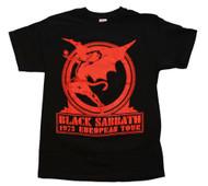 Black Sabbath - Europe 75 - Mens T-shirt