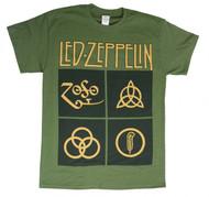 Led Zeppelin - Black Box Symbols - Mens T-shirt