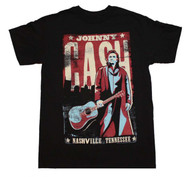 Johnny Cash - Nashville Poster - Mens - T-shirt