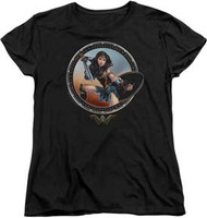 Wonder Woman | The Movie | Battle Pose | Womans Tee