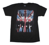 Beatles   Distressed Union Jack Photo   Men's T-shirt