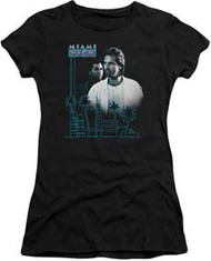 Miami Vice | Looking Out | Juniors Cap-Sleeve Tee