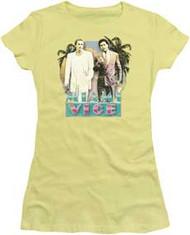 Miami Vice | 80s Love | Juniors Cap-Sleeve Tee