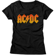 AC/DC | Distress Orange | Women's T-shirt