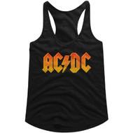 AC/DC | Distress Orange | Tank Top