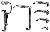 Davis Mouth Gag , Complete Set Includes Right Frame ( 4551-22) And 5 Blades (4551-11, 4551-12, 4551-13, 4551-14, 4551-15) , Length: 6.25