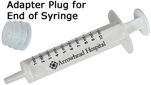 Imprinted 2 TSP Oral Syringe with Adapter Plug